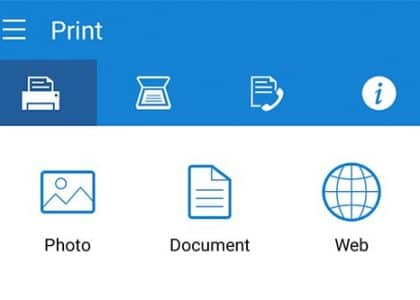 Samsung Mobile Print-App (Android)